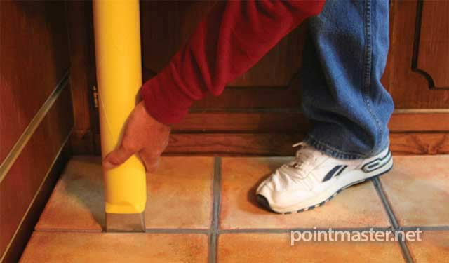 Application is fast and accurate, with regular floor grout