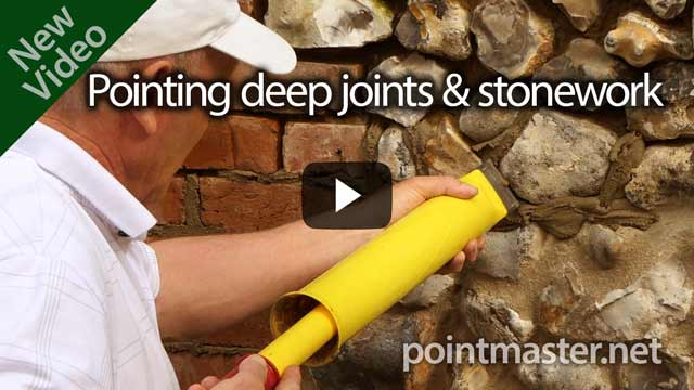 click to visit the pointing deep joints and stonework video